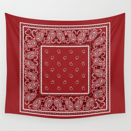 Classic Red Bandana Wall Tapestry