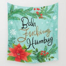 Pretty Sweary Holidays: Bah Humbug Wall Tapestry