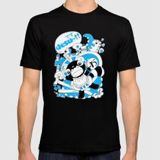 Desu~!!: Blue Black Mens Fitted Tee MEDIUM