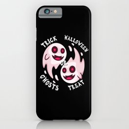 Funny Halloween ghosts trick or treat iPhone Case