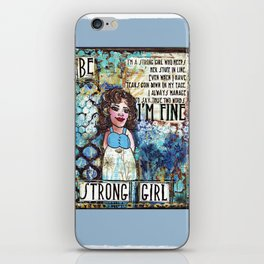 Be Strong Girl iPhone Skin