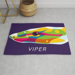 The Viper in Pop Art Style Rug