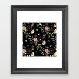 Summer Print Blackboard Framed Art Print