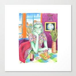 Angel / Alien Canvas Print