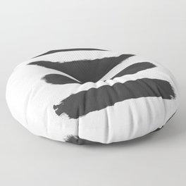 black brush stroke Floor Pillow