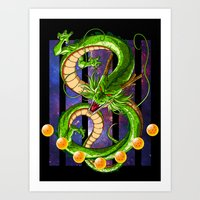 dragon ball Art Prints featuring Dragon by TxzDesign