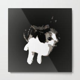 Beware the Demon Cat Metal Print