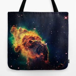 over a galaxy in the space Tote Bag