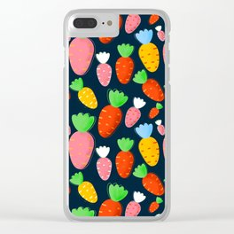Carrots not only for bunnies - seamless pattern Clear iPhone Case