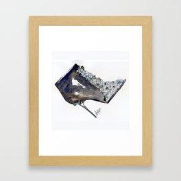 Black Boot Accessory Fashion Watercolor Framed Art Print