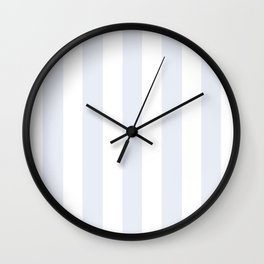 Coconut White heavenly - solid color - white vertical lines pattern Wall Clock