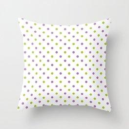 Fun Dots purple green Throw Pillow