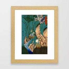 Mushroom Gatherers Framed Art Print
