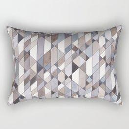 Triangle Pattern no.22 grays Rectangular Pillow