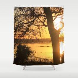 Floodplain at Sunset 2 Shower Curtain