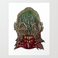 Heads of the Living Dead  Zombies: Salivation Zombie Art Print