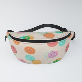 Smiley Face Stamp Print Fanny Pack