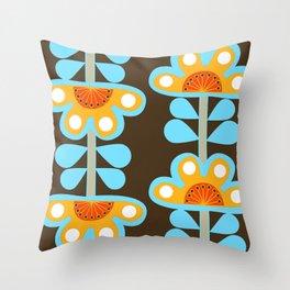 swedish flowers Throw Pillow
