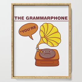 The Grammarphone - Funny Gramophone Wordplay Serving Tray