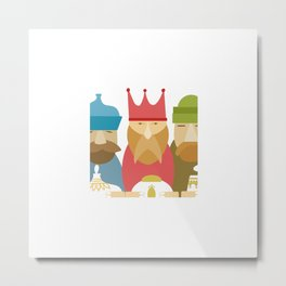 Three Kings Day Christmas Nerd Gift Metal Print