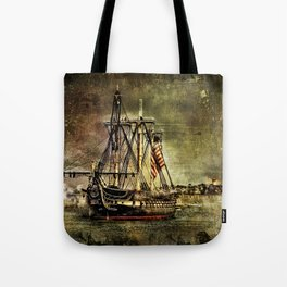 Tall ship USS Constitution Tote Bag