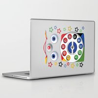 cartoons Laptop & iPad Skins featuring Retro Vintage smiley kids Toys Dial Phone iPhone 4 4s 5 5s 5c, ipod, ipad, pillow case and tshirt by Three Second