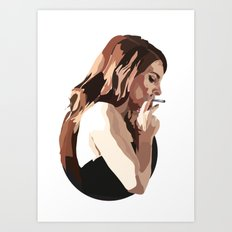 Lana with Cigarette Art Print