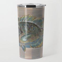 Bluegill on Earth Tone Plaid Travel Mug