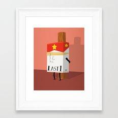 Last One Framed Art Print