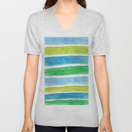 Sea Stripes Unisex V-Neck