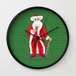 Big Pimpin' Santa Wall Clock