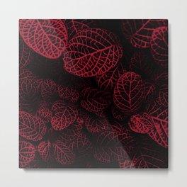 Tropical Red Leaves Metal Print