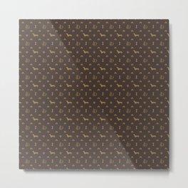 Louis Dachshund Luxury Dog Attire Metal Print