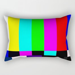 No Signal TV Rectangular Pillow