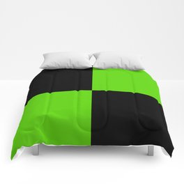 Big mosaic green black Comforters