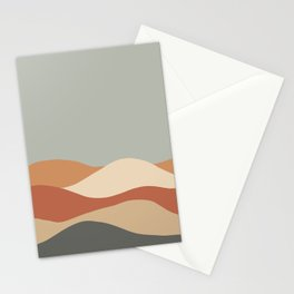 Rolling Hills - Earth Tones Stationery Cards