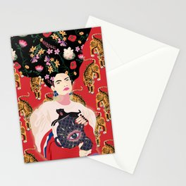 Let your mind blossom - Fashion portrait Stationery Cards
