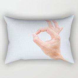 OK Hand Gesture Rectangular Pillow