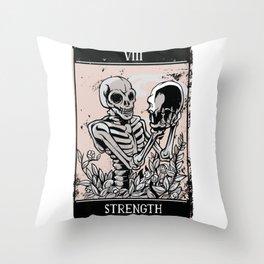 Tarot Card Occult Strength Throw Pillow