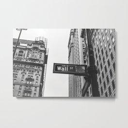 Wall street bw Metal Print