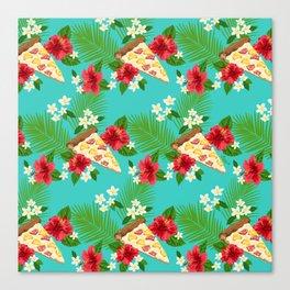 Hawaiian Pizza in a Hawaiian Print Canvas Print