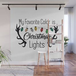 My Favorite Color is Christmas Lights Wall Mural