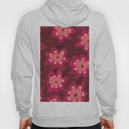 Burgundy Lace Rose Hoody