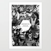 godard Art Prints featuring Nouvelle Vague by Dima Tannir