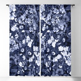 Bohemian Floral Nights in Navy Blackout Curtain
