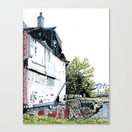 Oxford Street Vacant Lot Canvas Print