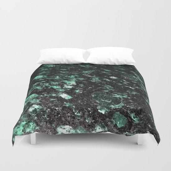 The Jade Sleeping Beneath the Black Granite Duvet Cover