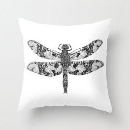 Filigree Skimmer black & white Throw Pillow