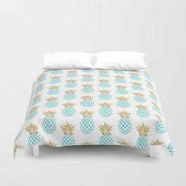 Elegant faux gold pineapple pattern Duvet Cover