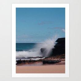 Ocean Splash Art Print